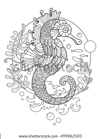 Seahorse Tattoo Stock Images Royalty Free Images
