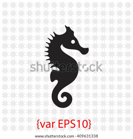 Sea Horse icon. Sea Horse vector. Simple icon isolated on gray background. - stock vector