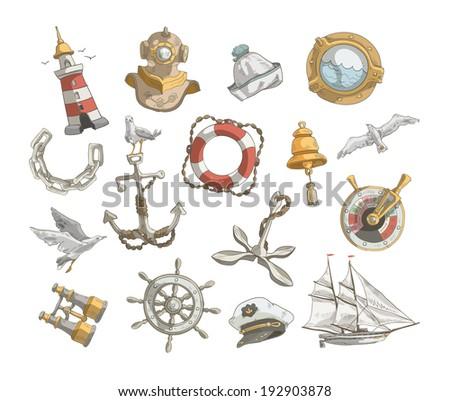 Sea ??icons. Vector format - stock vector