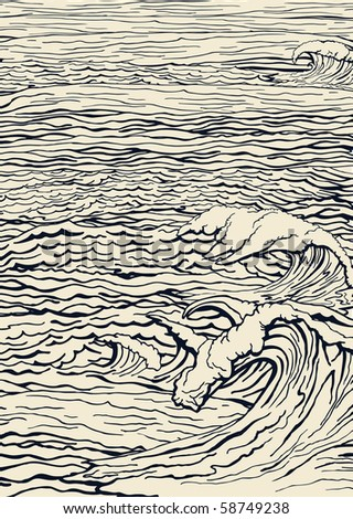 Sea landscape - stock vector