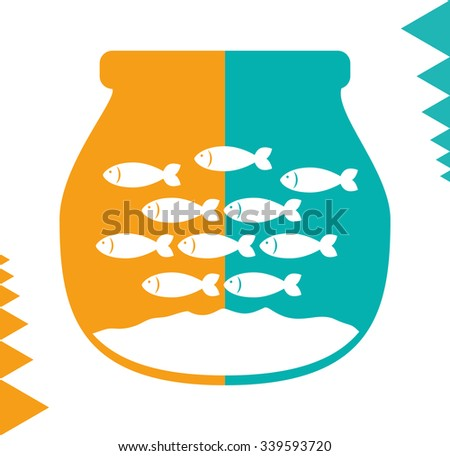 Sea life concept with fish design, vector illustration 10 eps graphic - stock vector