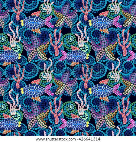 Sea Life Mosaics Related Keywords Sea Life Mosaics Long