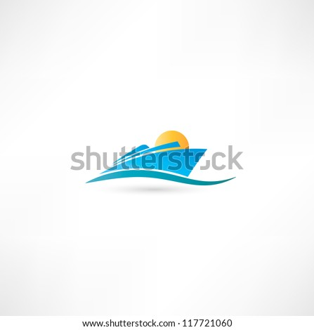 Sea liner - stock vector