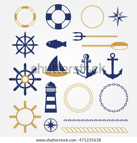 Sea Marine Vector Elements