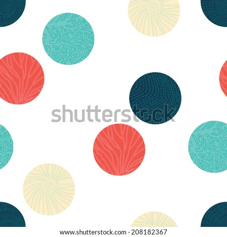 Sea polka dot.  Seamless pattern can be used for wallpaper, pattern fills, web page background, surface textures.