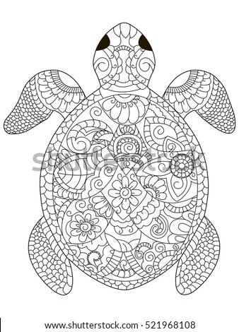 adult turtle coloring pages - adult stock photos royalty free images vectors
