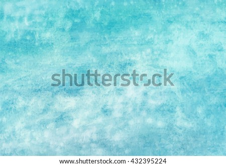 Sea water texture, abstract watercolor background, vector illustration - stock vector
