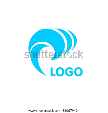Sea wave logo design - stock vector