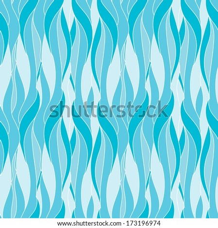 Sea Waves Abstract Seamless Pattern