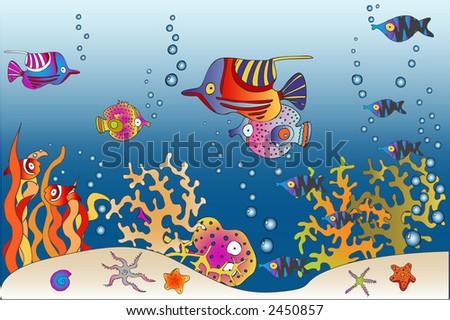 sea world 2 - stock vector