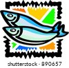 Seafood - fish. Vector illustration. - stock vector