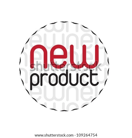 Seal new products over white background - stock vector