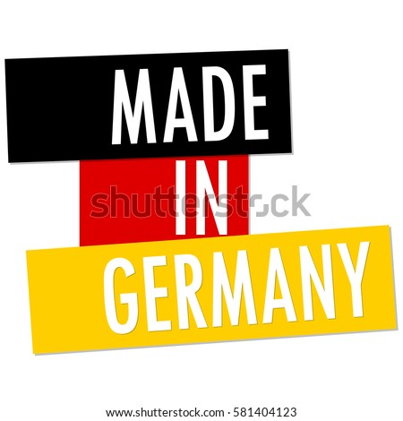 seal of quality with country flag and text Made in Germany