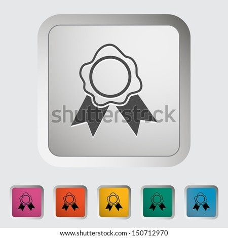 Seal. Single icon. Vector illustration..