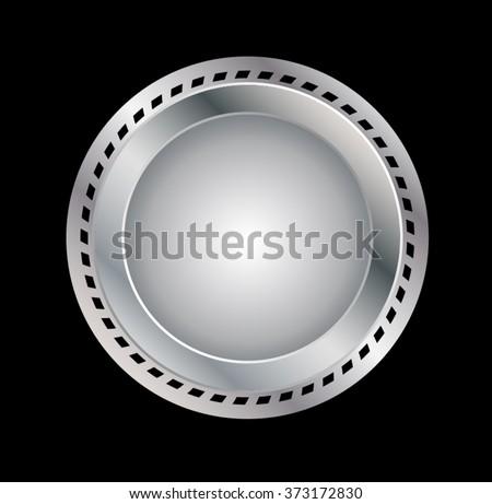 Seal . Vector Metal label - stock vector