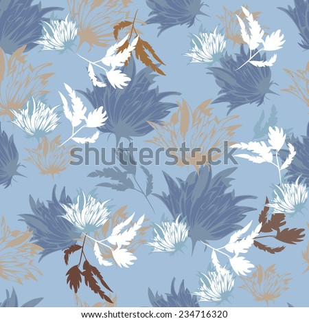 Seamles Vector Background  Flowers Floral  - stock vector