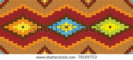 seamless abstract african ethnic ornament. Vector illustration - stock vector