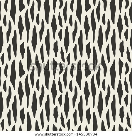 Seamless abstract animal pattern. Vector illustration - stock vector