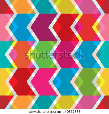 Seamless abstract back to the eighties retro background pattern in vector - stock vector