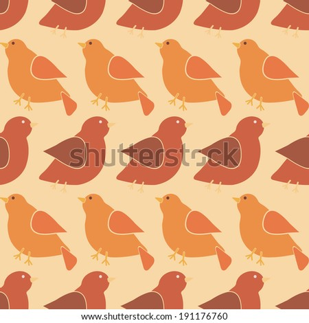 seamless abstract background with birds