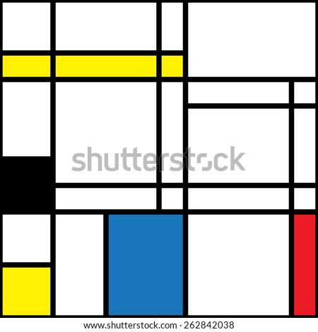Seamless abstract background with color squares - stock vector