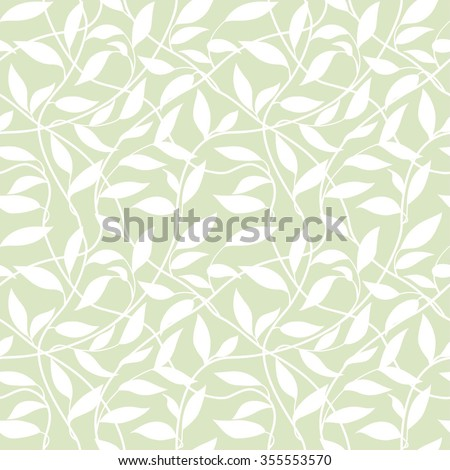 seamless abstract background with  leaflets - stock vector