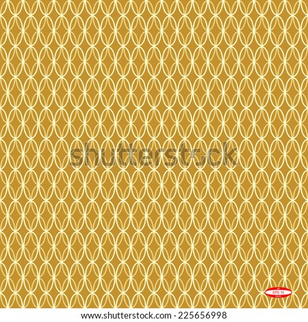 seamless abstract beige pattern golden texture with sand ellipse on beige background vector - stock vector