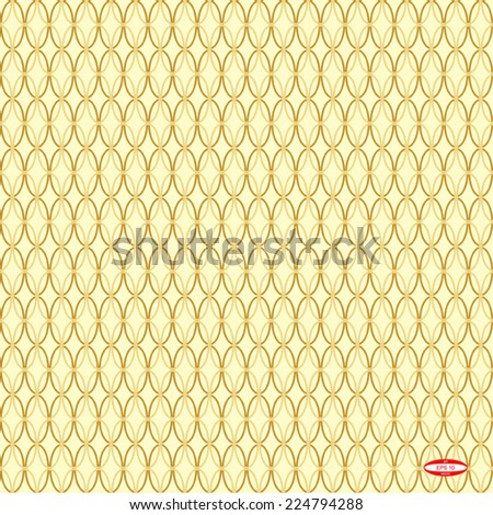 seamless abstract beige pattern golden texture with sand ellipse on yellow background vector - stock vector