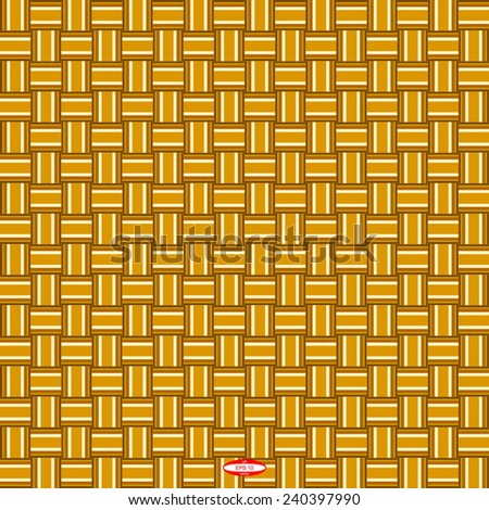 seamless abstract beige pattern sand texture with yellow line wicker brown background vector - stock vector