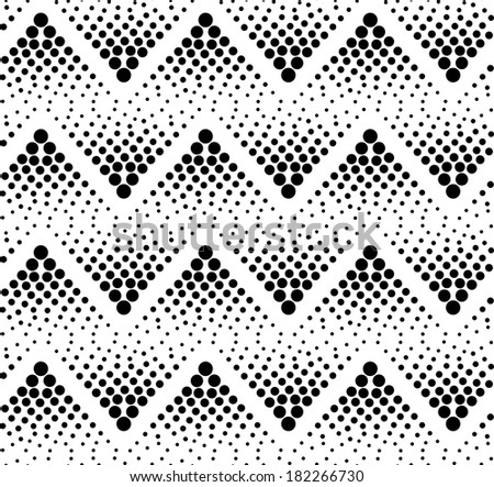seamless abstract black and white dots pattern
