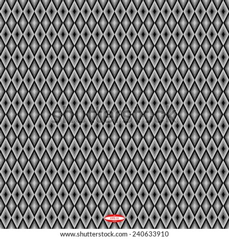 seamless abstract black grey pattern with rhombus on dark background vector