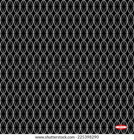 seamless abstract black white pattern black white texture with white ellipse on black background vector - stock vector