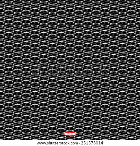 seamless abstract black white pattern black white texture with white line with grey wave on black background vector - stock vector