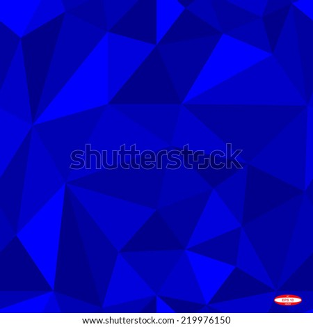 seamless abstract blue pattern blue texture abstract blue line on blue background with triangle vector - stock vector
