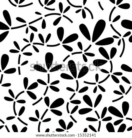 seamless abstract botanical background - stock vector