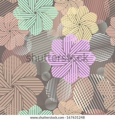 Seamless abstract brown geometric vector pattern. - stock vector