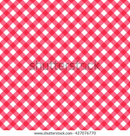 Seamless abstract checkered gingham pattern. Seamless stylish background. Universal pink texture. Vector illustration. - stock vector