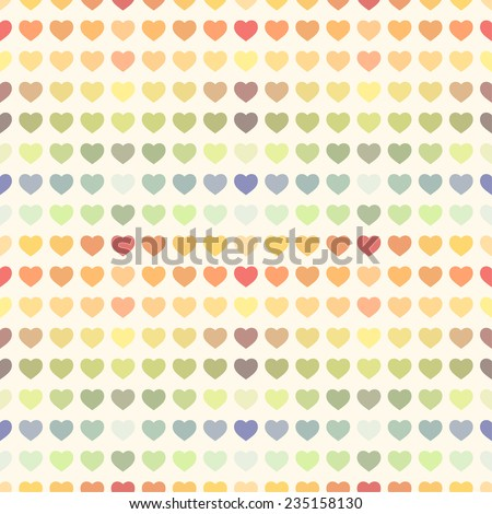Seamless abstract colorful rainbow Valentine's background holiday - stock vector