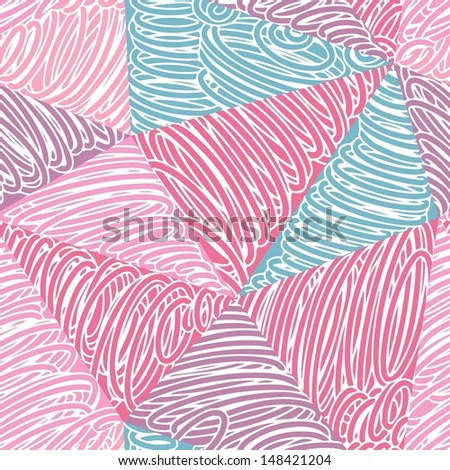 Seamless abstract doodle pattern-model for design of gift packs, patterns fabric, wallpaper, web sites, etc. - stock vector
