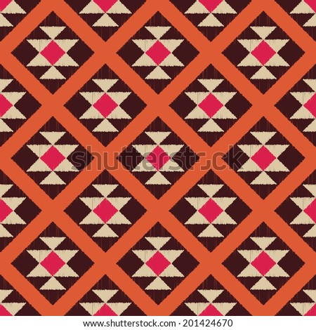 seamless abstract ethnic geometric pattern - stock vector