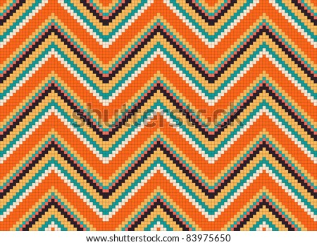 seamless abstract ethnic ornament. Vector illustration - stock vector