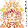seamless abstract floral decor - stock