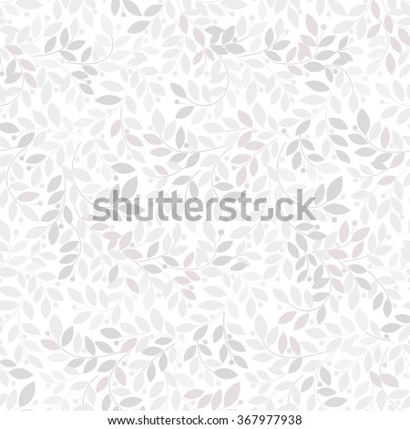 Seamless abstract floral pattern. Gray and white vector background. Ornament for wrapping, wallpaper, tiles - stock vector