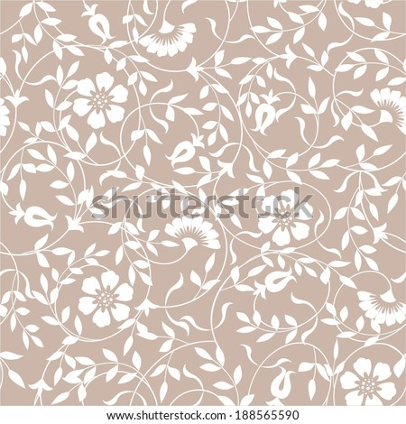 Seamless abstract floral pattern. Vector background. - stock vector