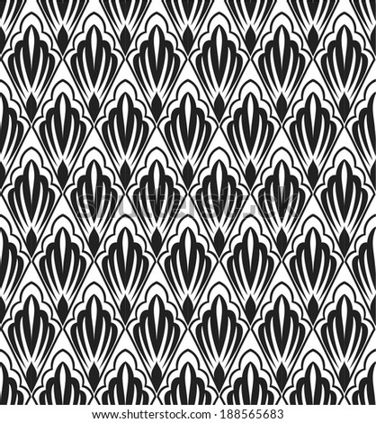 Seamless abstract floral pattern. Vector background.
