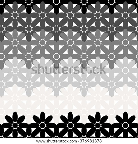 Seamless abstract flower pattern created from circle and ellipse intersections - stock vector
