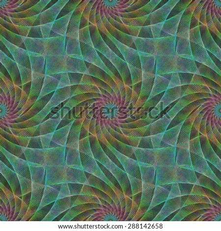 Seamless abstract fractal pattern background design - stock vector