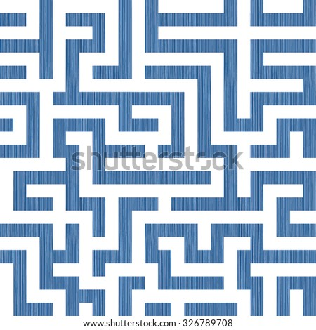 Seamless Abstract Geometric Maze Surface Design Pattern