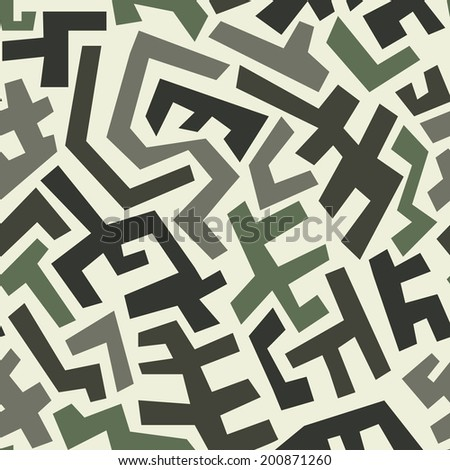 Seamless abstract geometric pattern in vintage style. Vector illustration EPS8 - stock vector