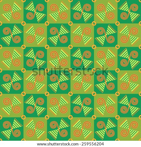 Seamless abstract geometric pattern. Traditional Ukrainian ornament. Hipster background. - stock vector